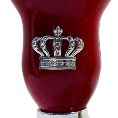 Mate calabaza color bordo con corona por mayor