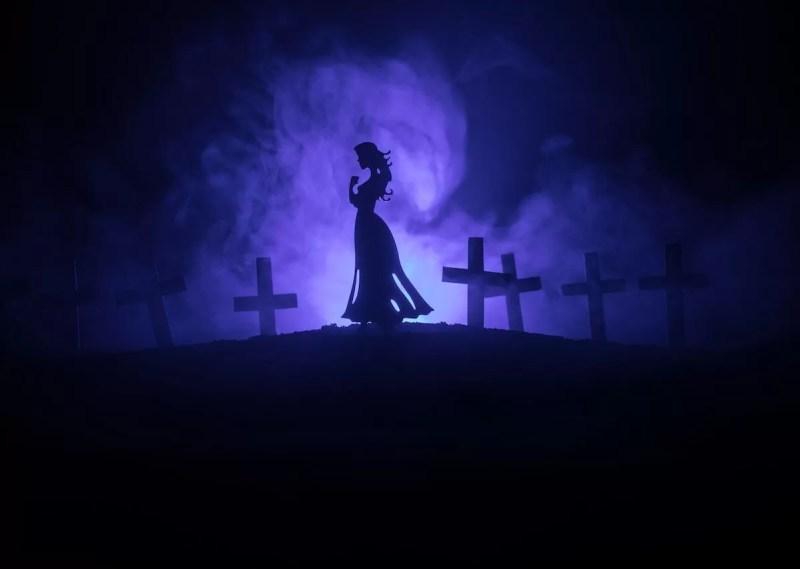 Chorona ou llorona lenda mundo sombrio cemitério