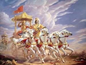 Escena del Bhagavad-Gita