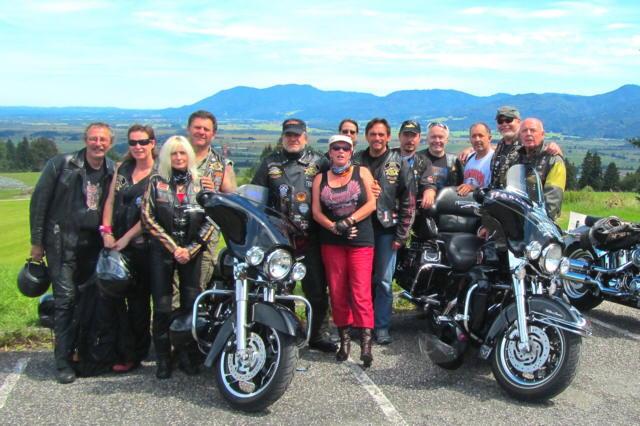 Harley-Glühn auf der Kreut Alm ...