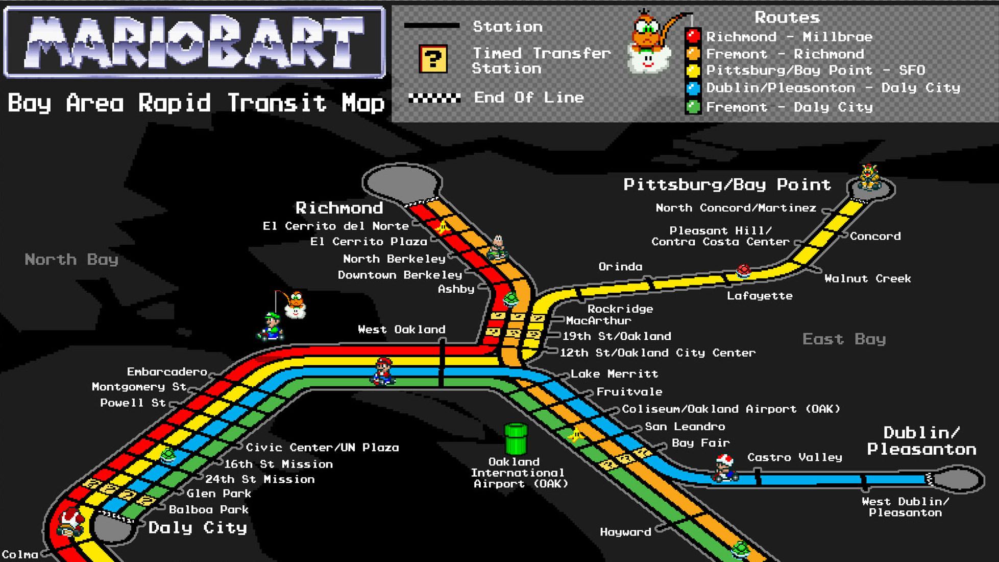 Mario Bart Map Is Hella Tight