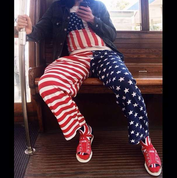 flag outfit on muni