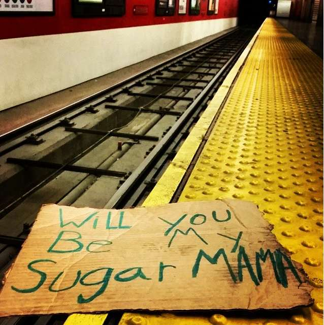 cardboard sign found at muni stop