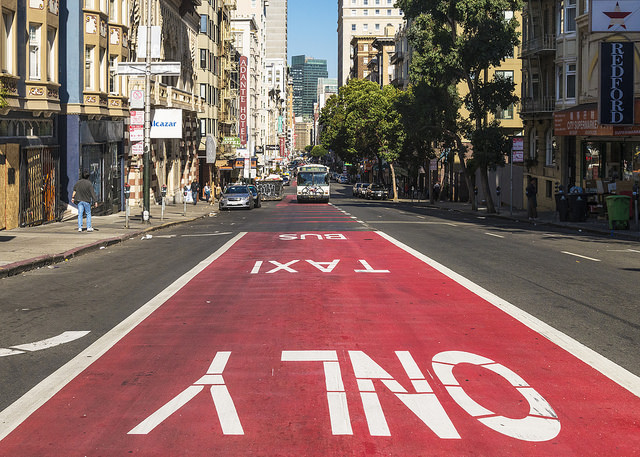 taxi and muni only lane by sergio ruiz