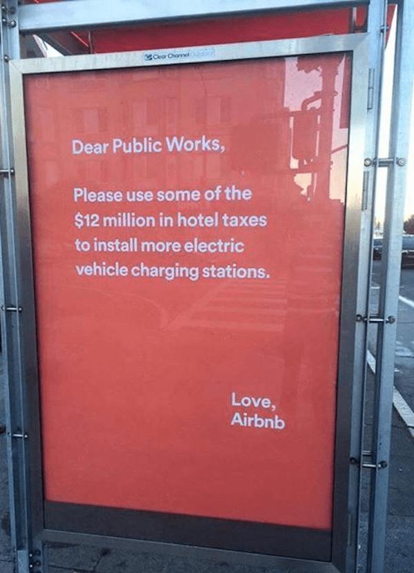 air bnb public works bus ad