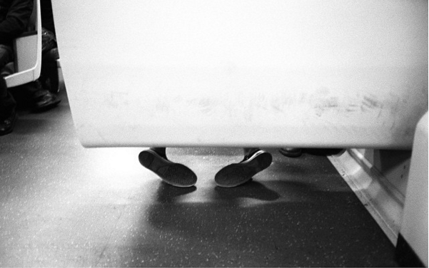 shoes on bart by david root