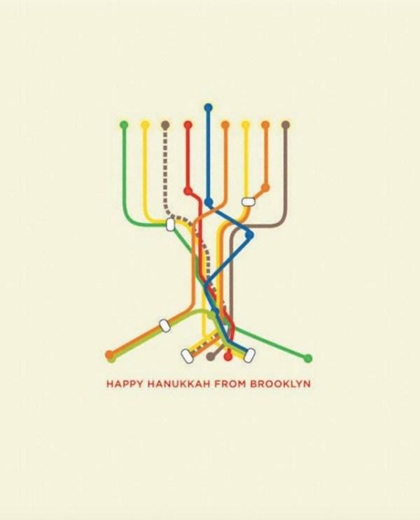 brooklyn subway hannukkah
