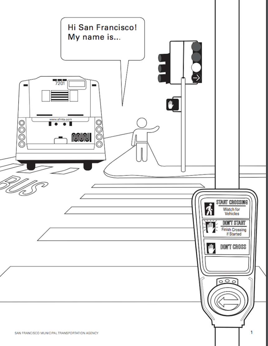 sfmta coloring book page 1