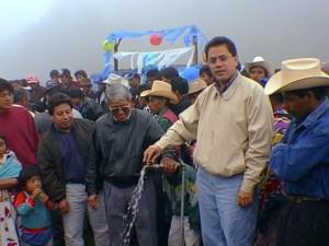 Entrega de proyecto de agua, Chuicavioc