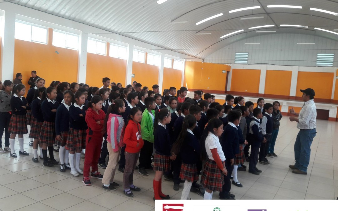 Campaña de sensibilización sobre la gestión integral de los recursos hídricos y el cambio climático en centros educativos.