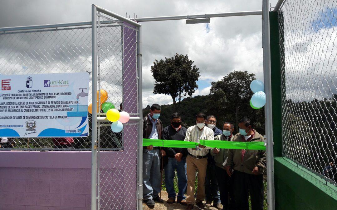 Inauguración de proyecto de agua y saneamiento en la comunidad de Aldea Santo Domingo del Municipio de San Antonio Sacatepéquez, San Marcos.
