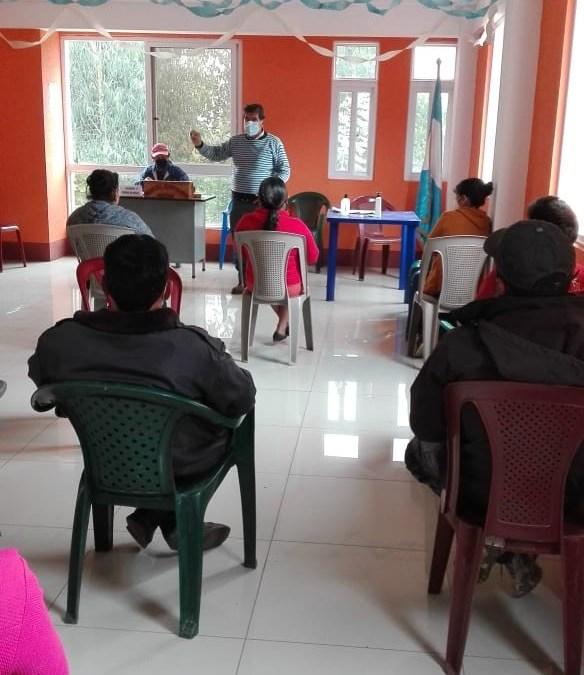 MUNI-K´AT en coordinación con la Municipalidad de  Esquipulas Palo Gordo y el centro de salud,  aborda taller sobre operación y mantenimiento del servicio de agua.