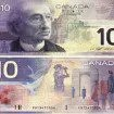 COPY PHOTO OF DESIGN OF NEW CANADIAN 1O DOLLAR BILL