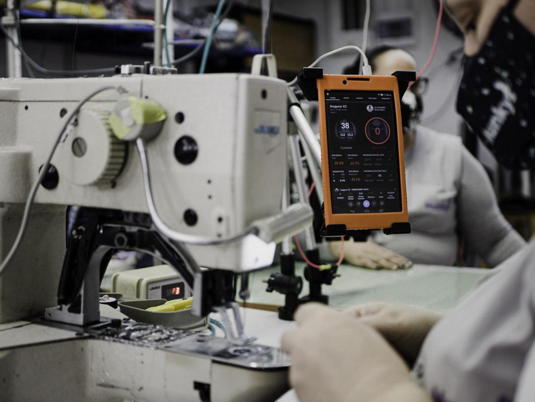 Sammu instalado en una planta de producción