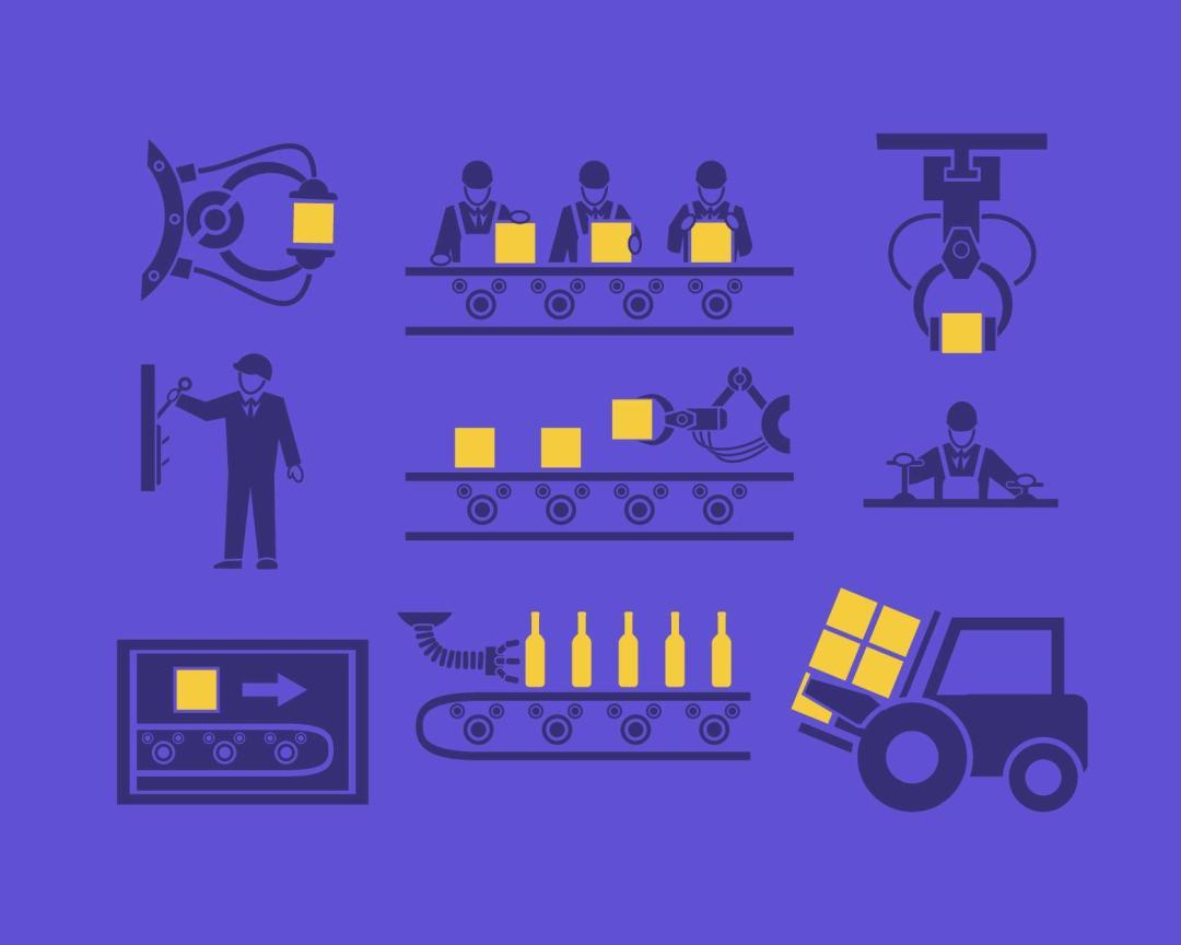 infográfico los 4 tipos de sistemas de produccion