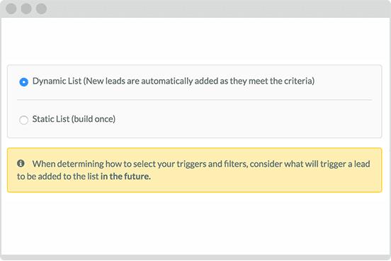 automation dynamic lists