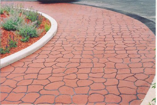 Concrete paving, Stamped concrete