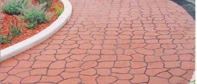 Concrete paving, Stamped concrete
