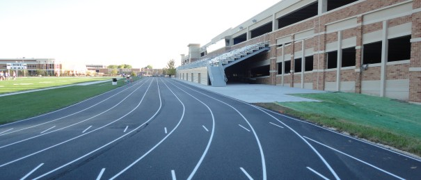 Running track construction, paving