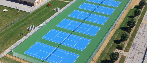 Commercial Tennis court construction wisconsin