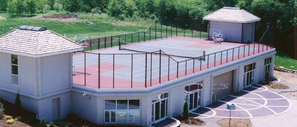 Tennis court construction,