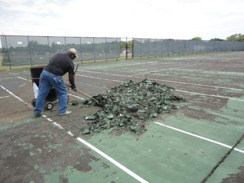Tennis court repair, Tennis court resurfacing, Milwaukee