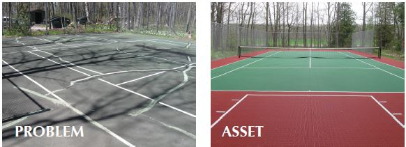 tennis court maintenance, repair, Milwaukee
