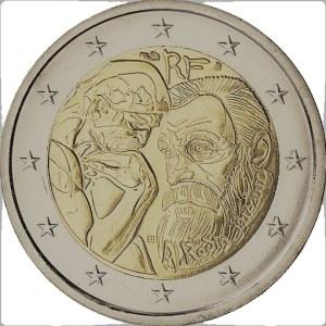 2 euro herdenkingsmunt Auguste Rodin Frankrijk