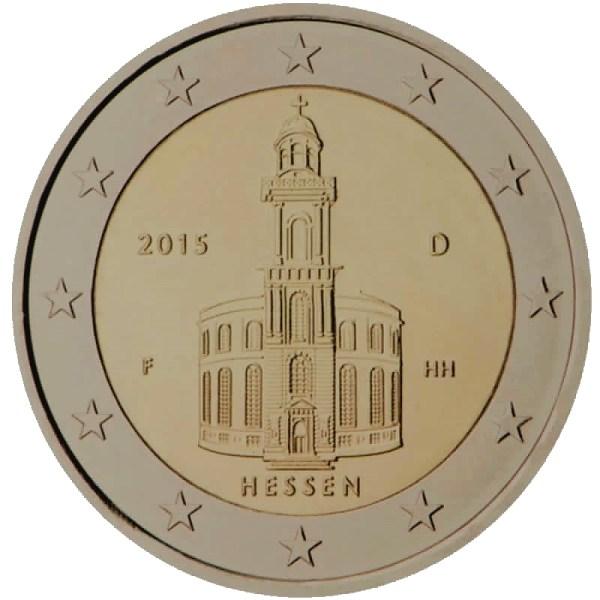 2 euro herdenkinsmunt duitsland hessen in bundesrat