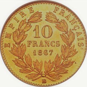 10 Francs or Napoléon 3 demi louis d'or