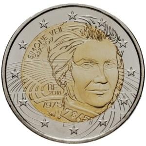 2 euromunt Simone Veil - Herdenking van haar intrede in het Pantheon - Frankrijk