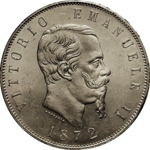5 lira koning Victor-Emanuel II van Italië