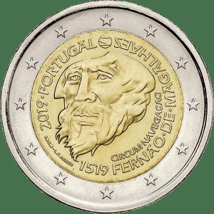2 euro herdenkingsmunt Magellaan 500 jaar rond de wereld - Portugal
