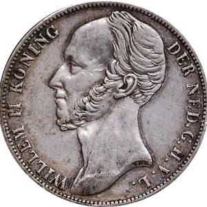 willem II 1 GULDEN ZILVER