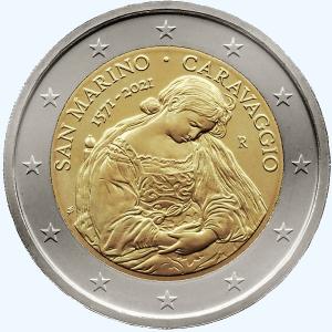 2 euromunt San Marino Caravaggio