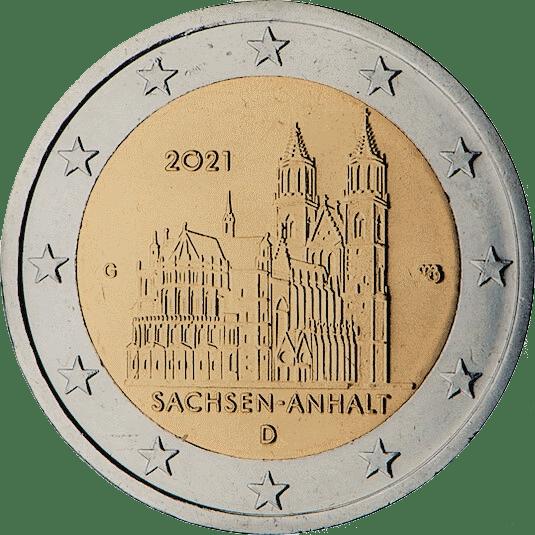 2 euro Saxony Anhalt Duitsland 2021