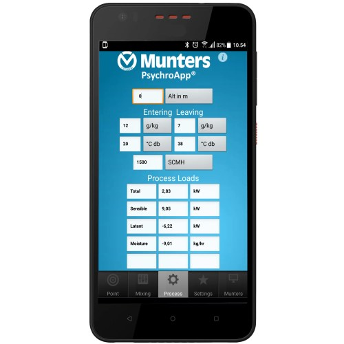 small resolution of munters psychroapp psychrometric calculator lets you easily calculate the thermodynamic properties of moist air more accurately than using psychrometric