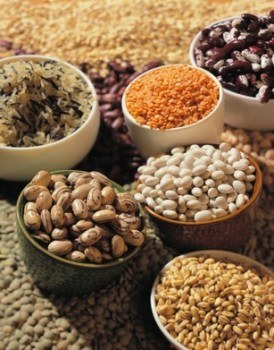 haricot beans, lentil and rice