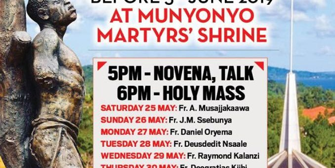 Uganda Martyrs Novena before 3rd June