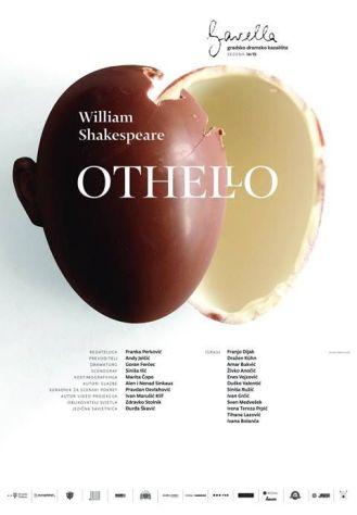 Plakat Othello za kazalište Gavella,Vanja Cuculić