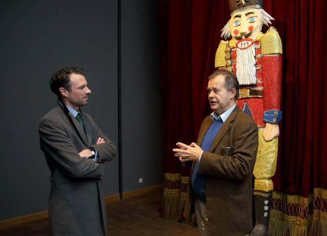 Nj. E. Andrew Stuart Dalgleish, veleposlanik Velike Britanije i Miroslav Gašparović, ravnatelj MUO, snimio: Vedran Benović