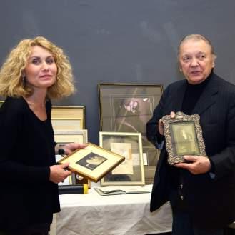 Arijana Koprčina, autorica i kustosica izložbe Orašar i Željko Jureša (snimio: Vedran Benović)