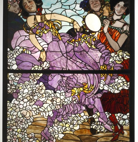 Plesačice: vitraj; Beč, oko 1900.; Erwin Puchinger, Karl Geyling; MUO 019459