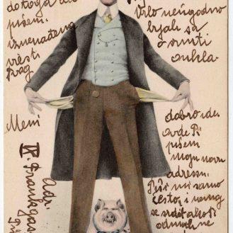 Čestitka-fotografija, Praznička besparica, Austro-Ugarska, 1899., autor nepoznat