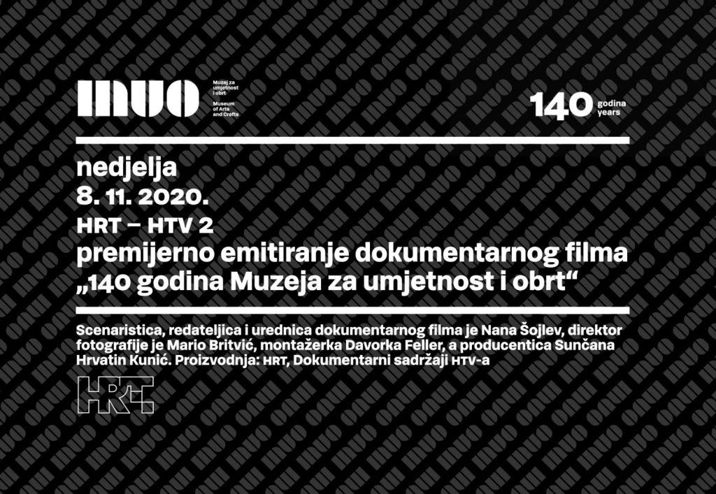 Premijera dokumentarnog filma '140 godina Muzeja za umjetnost i obrt' na HRT-u