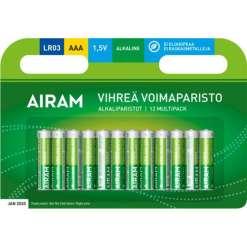 Paristo AAA alkali vihreä 12 kpl Airam