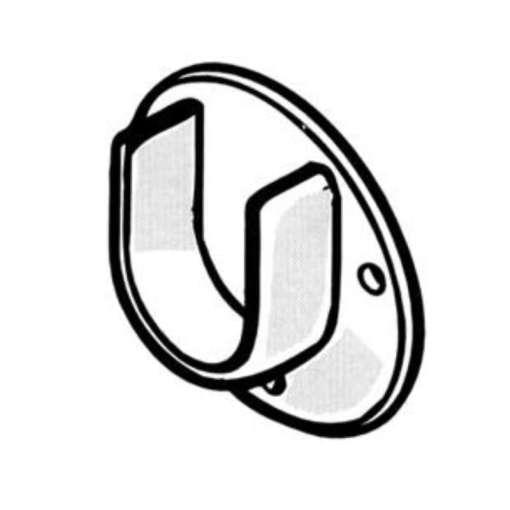 Putkenkannatin Ø 28 mm U-malli