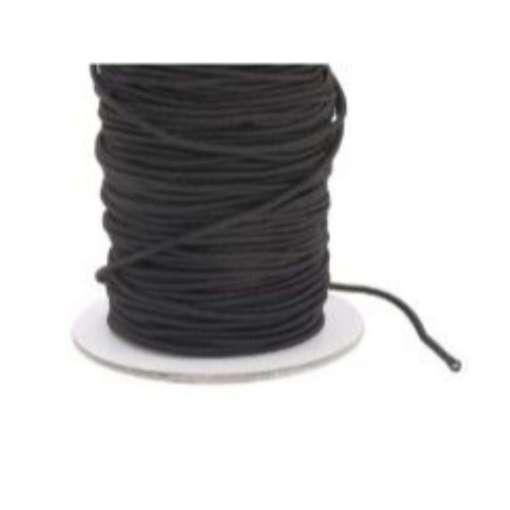 Kuminauha pyöreä 4 mm musta