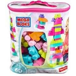 Mega Bloks palikat 60 kpl pinkki
