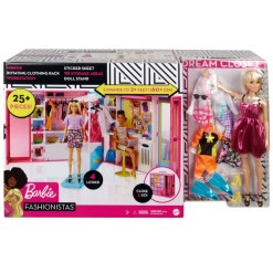 Barbie & vaatekaappi & vaatteet